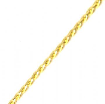 Fine gold plated chain 1mm